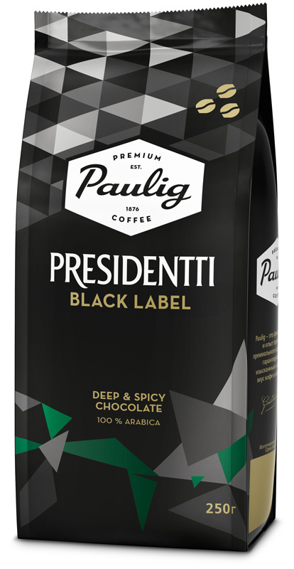 Кофе зерновой Paulig Presidentti Black Label 250г. (16751)