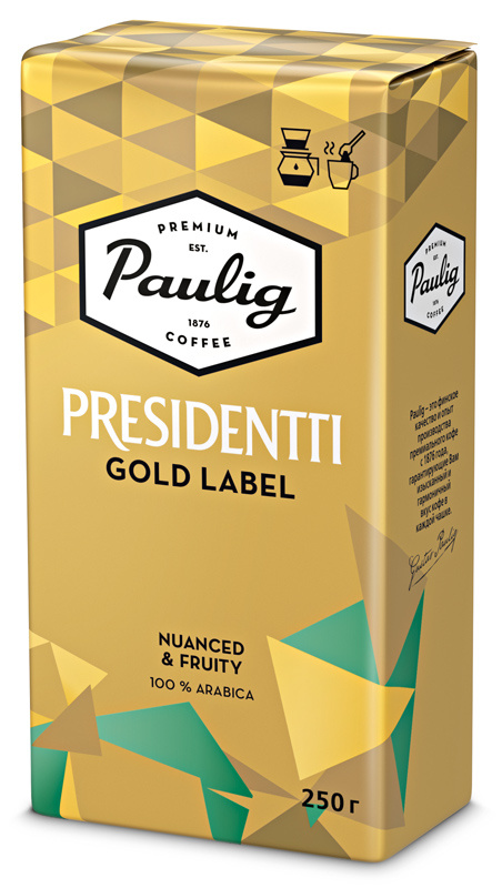 Кофе молотый Paulig Presidentti Gold Label 250г. (16976)