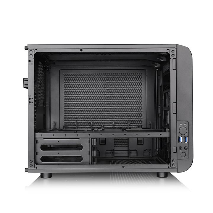 Корпус Thermaltake Core V21 черный без БП mATX 11x120mm 7x140mm 1x200mm 2xUSB3.0 audio bott PSU