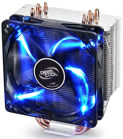 Устройство охлаждения(кулер) Deepcool GAMMAXX 400 BLUE BASIC Soc-FM2+/AM2+/AM3+/AM4/1150/1151/1155/ 4-pin 18-30dB Al+Cu 130W 640gr LED Ret