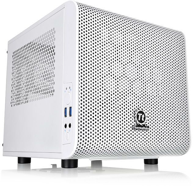 Корпус Thermaltake Core V1 Snow белый без БП miniITX 1x200mm 2xUSB3.0 audio bott PSU